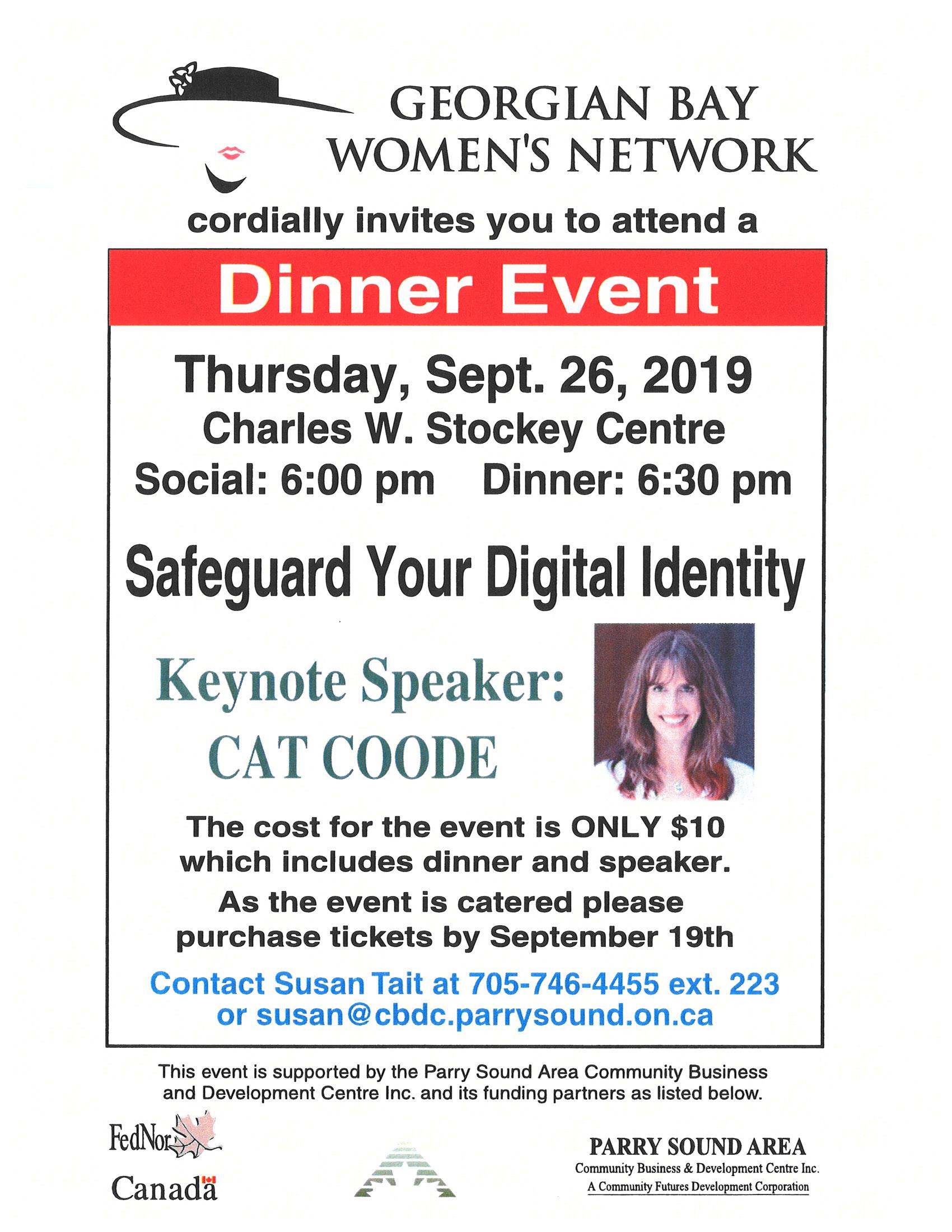 Georgian Bay Womens Network Poster